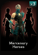 Mercenary Hero Three Pack