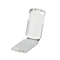 Q10 Leather Flip Shell - White