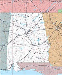 USA State EPS Maps - Alabama