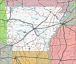 USA State EPS Maps - Arkansas