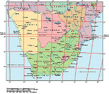 Frontiers Mac EPS map of South Africa, Zimbabwe