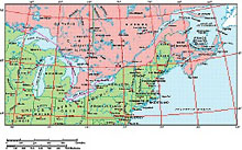 Frontiers Mac EPS map of Great Lakes, St Lawrence Seaway