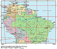 Frontiers Mac EPS map of South America, Northern half