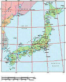 Frontiers Windows EPS map of  Japan, Manchuria
