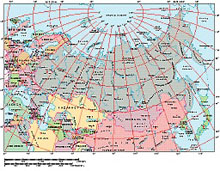 Frontiers Mac EPS map of Russia and former Soviet Republics