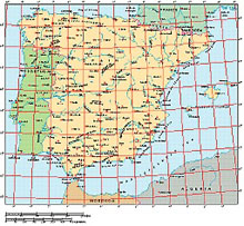 Frontiers Windows EPS map of  Iberia, Spain, Portugal