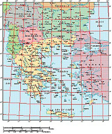 Frontiers Mac EPS map of Balkans, Greek Archipelago