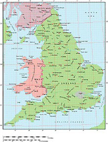Frontiers Windows EPS map of  England