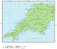 Frontiers Mac EPS map of British Isles - South West England