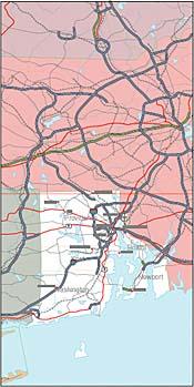 Digital Wisdom, Inc. Online Store - USA State EPS Maps - Rhode Island