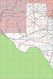 USA State EPS Maps - Texas (West)