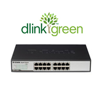 Green 16-port Gigabit Switch, Rackmount/Desktop