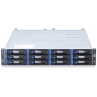 DSN-5410-10 xStack Storage 10X1GBE H.A. Capable ISCSI SAN Array, 12 Bays, 2U Rackmount, w/ Primary Controller, w/o Drives, With Trays