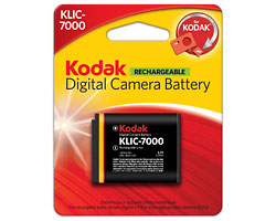 KODAK Li-Ion Rechargeable Digital Camera Battery KLIC-7000