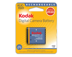 KODAK Li-Ion Rechargeable Digital Camera Battery KLIC-7001