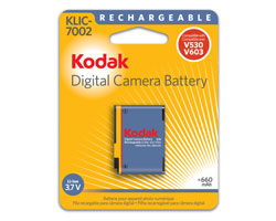 KODAK Li-Ion Rechargeable Digital Camera Battery KLIC-7002