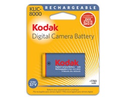 KODAK Li-Ion Rechargeable Digital Camera Battery KLIC-8000