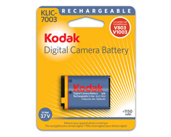 KODAK Li-Ion Rechargeable Digital Camera Battery KLIC-7003