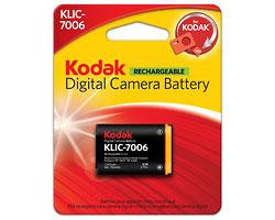KODAK Li-Ion Rechargeable Digital Camera Battery KLIC-7006