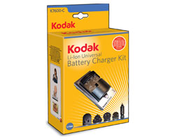 KODAK Li-Ion Universal Battery Charger Kit K7600-C