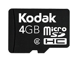 KODAK MICROSDHC Mobile Memory Card / 4 GB