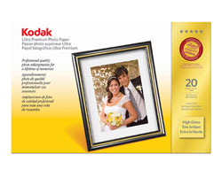 KODAK Ultra Premium Photo Paper / 11 × 17 in. (279 × 432 mm) / High Gloss / 20 Sheets