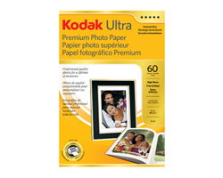 KODAK Ultra Premium Photo Paper / 4 × 6 in. (10,2 × 15,2 cm) / High Gloss / 60 Sheets