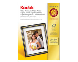 KODAK Ultra Premium Photo Paper / 5 × 7 in. (13 × 18 cm) / High Gloss / 20 Sheets