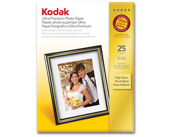 KODAK Ultra Premium Photo Paper / 8.5 × 11 in. (216 × 279 mm) / High Gloss / 25 Sheets