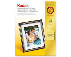 KODAK Ultra Premium Photo Paper / 8.5 × 11 in. (216 × 279 mm) / Studio Gloss / 25 Sheets