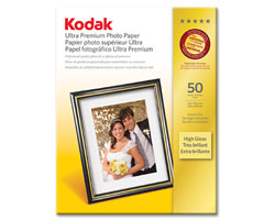 KODAK Ultra Premium Photo Paper / 8.5 × 11 in. (216 × 279 mm) / High Gloss / 50 Sheets