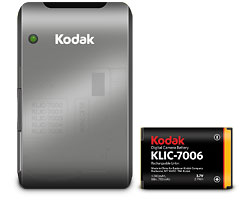 KODAK Camera Battery Charger K7700 / KLIC-7006 Combo Pack