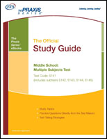Middle School: Multiple Subjects Test (5141, includes subtests 5142, 5143, 5144, 5145) eBook