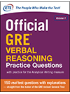 Official GRE® Verbal Reasoning Practice Questions, Volume One