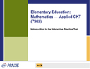 Elementary Education: Mathematics—Applied CK (7903), 90-Day Subscription