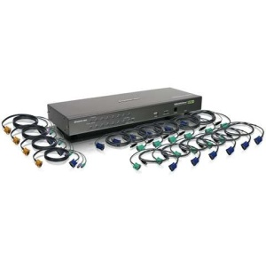 16-Port USB PS/2 Combo KVM Switch with Cables