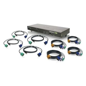 8-Port USB PS/2 Combo VGA KVM Switch with Cables