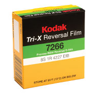 KODAK TRI-X Reversal Film 7266 / 50 ft Super 8 Cartridge, Catalog # 1889575