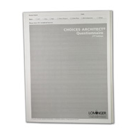 Choices Architect® Paper Quick Score Questionnaire - Research Rating Scale, 2nd Edition