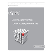 Learning Agility Architect™ Quick Score Questionnaire