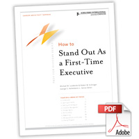Career Architect® Express Prep for Success: How to Stand Out As a First-Time Executive