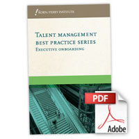 Talent Management Best Practice Series: Executive Onboarding (PDF)