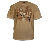Choice Deer Skull Wings T-Shirt-Tan