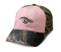 Ladies Frayed Camo Cap