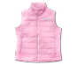 Ladies Antlers Quilted Vest-Pink