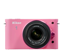 Nikon 1 J1 - Two Lens Zoom Kit in Pink