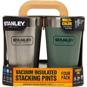 Beer - Growlers, Pints & Steins: Adventure Stacking Vacuum Pint | 16 oz (4 Pack)