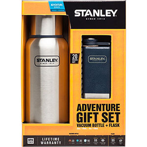 Adventure Vacuum Bottle, 25 oz + Flask, 5 oz | Gift Set
