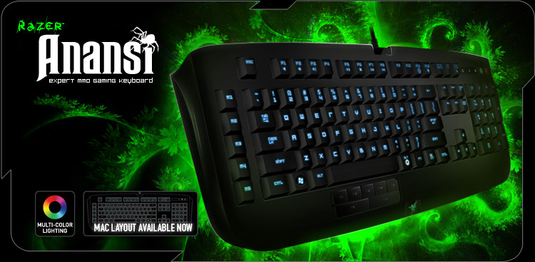 What keyboard do you use? Razer-anansi-main-mac