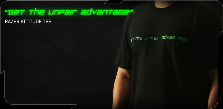 Razer Attitude Tee (Get The Unfair Advantage)